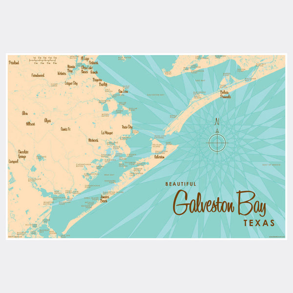Galveston Bay Texas, Paper Print