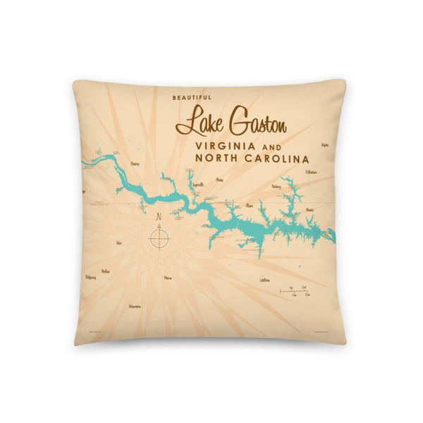 Lake Gaston Virginia North Carolina Pillow