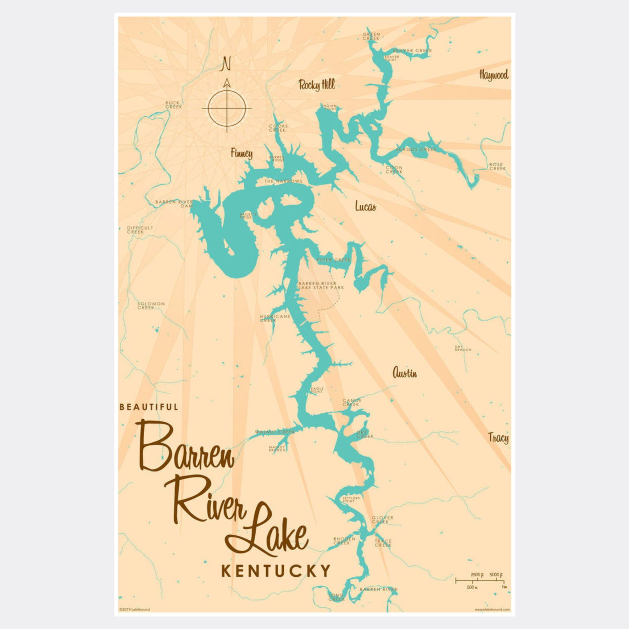 Barren River Lake Kentucky, Paper Print