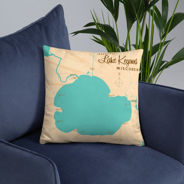 Lake Kegonsa Wisconsin Pillow