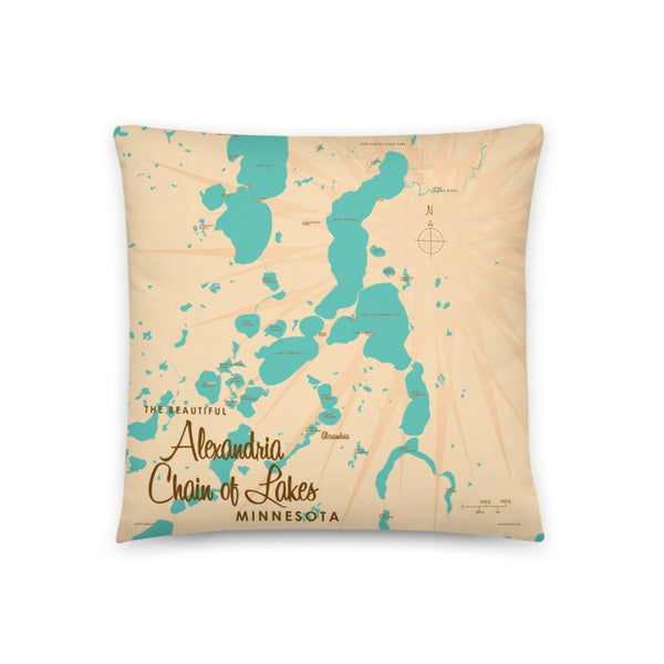 Alexandria Chain of Lakes Minnesota Pillow