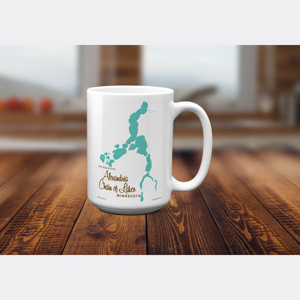 Alexandria Chain of Lakes Minnesota, 15oz Mug