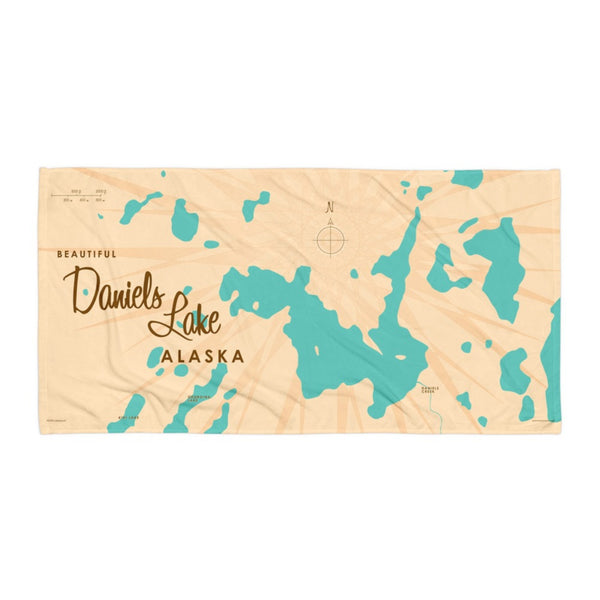 Daniels Lake Alaska Beach Towel