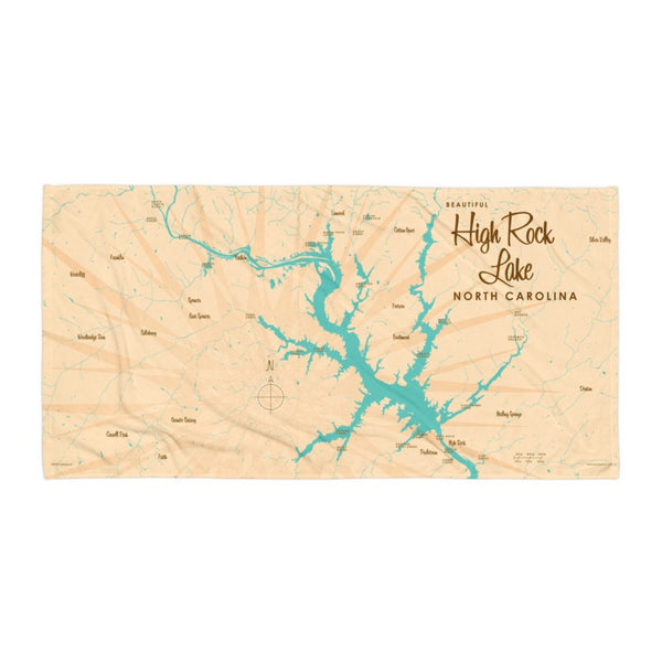 High Rock Lake North Carolina Beach Towel
