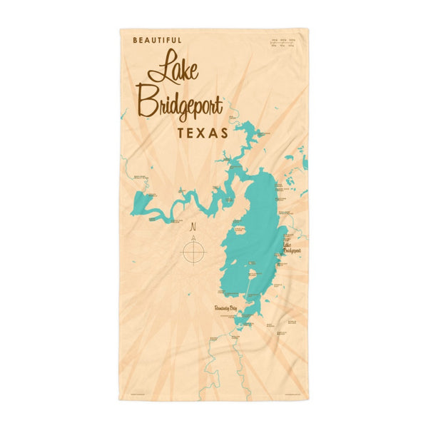 Lake Bridgeport Texas Beach Towel