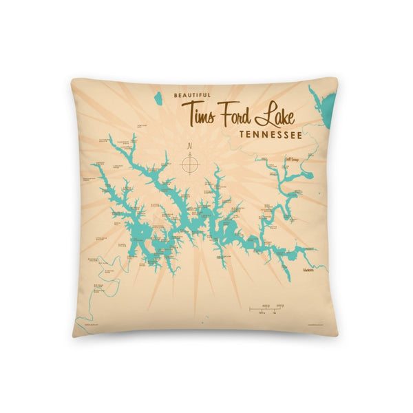 Tims Ford Lake Tennessee Pillow