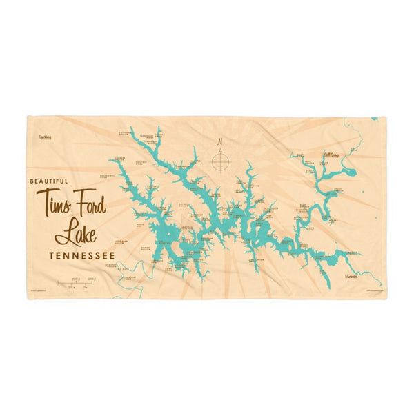 Tims Ford Lake Tennessee Beach Towel