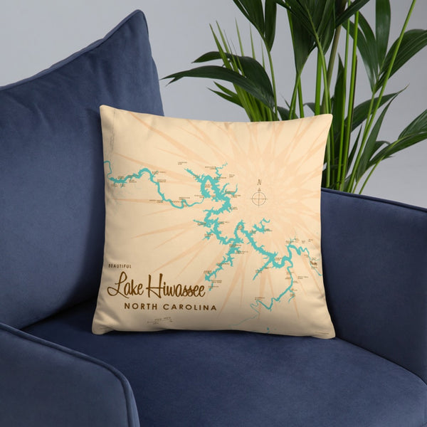 Lake Hiwassee North Carolina Pillow