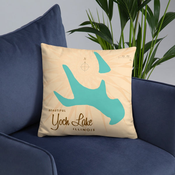 Yoch Lake Illinois Pillow