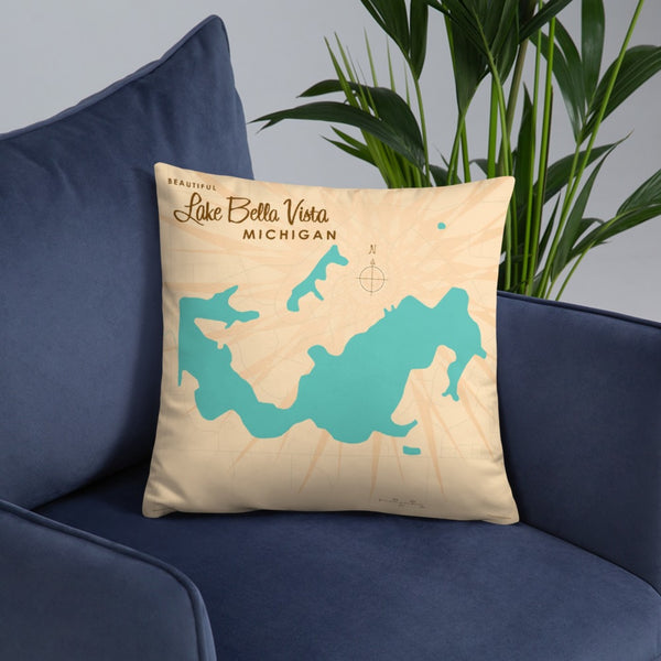 Lake Bella Vista Michigan Pillow