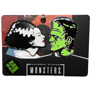 Bride & Frankenstein Enamel Pin Set