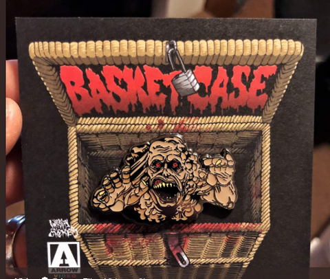 Basket Case Siamese Twin Freak Enamel Pin