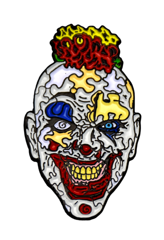 Puzzle Face The Clown Enamel Pin