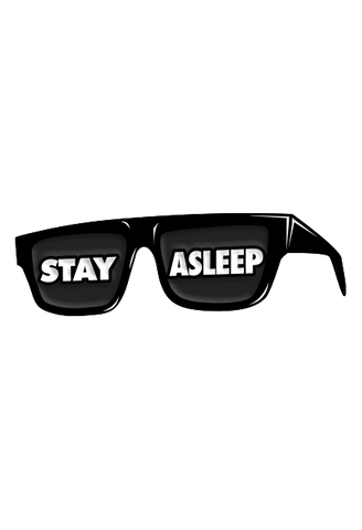 Stay Asleep Glasses Enamel Pin