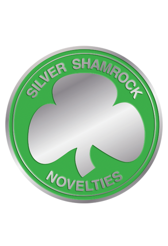 Silver Shamrock Power Chip Enamel Pin