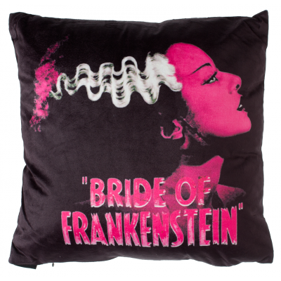 Pink Bride of Frankenstein Pillow