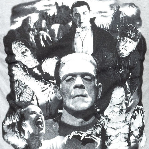 Universal Monster Collage Button