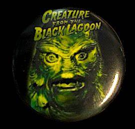 Green Creature From the Black Lagoon Button