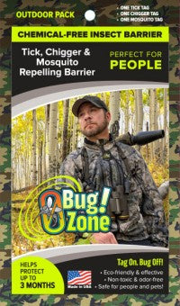 0Bug!Zone® Outdoor Camo Pack for People (Mosquito, Tick and Chigger)