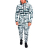 2 Piece Zipper Camouflage Sweatsuit