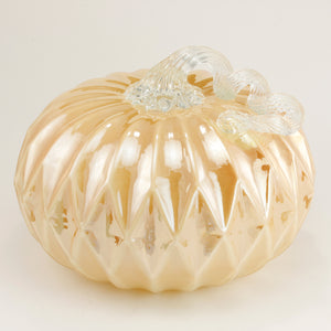 Gold Facet Large Pumpkin