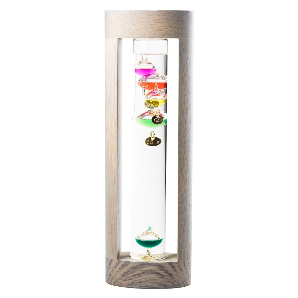 Wood Designer Galileo Thermometer