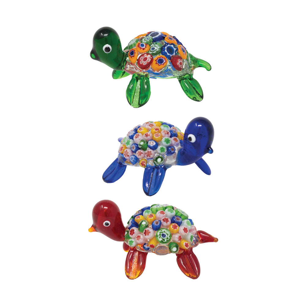 Millefiori Turtles: 3pc