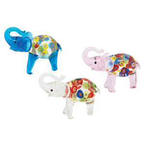 Millefiori Elephants: 3pc
