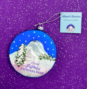 Mount Rainier Mercury Ornament