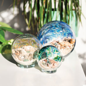 Dark Blue & Teal Sea Globes