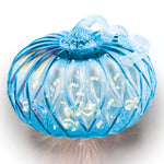 Blue Facet Large Pumpkin w/ White String LEDs