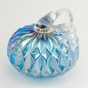 Blue Facet Small Pumpkin