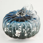Blue & Gray Ombre Pumpkin w/ White String LED Lights