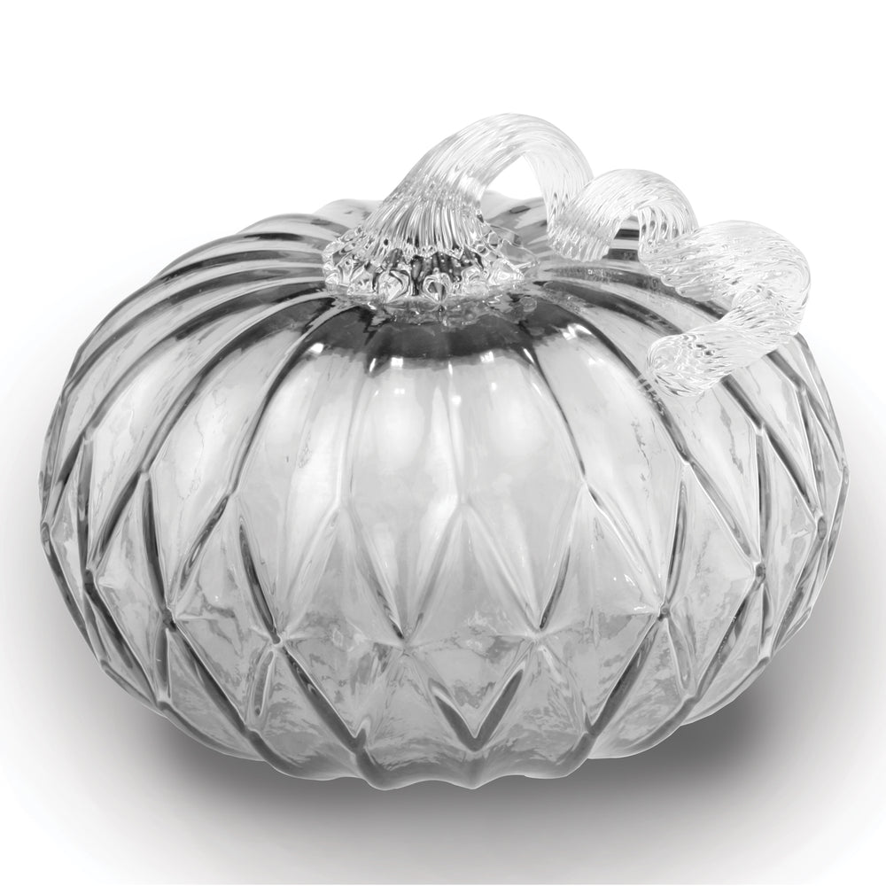 Gray Facet Large Pumpkin