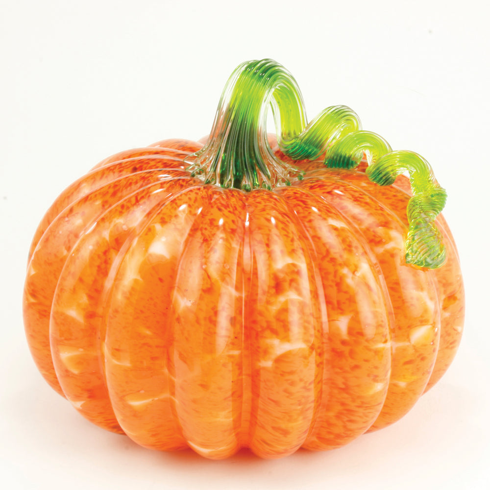 Orange Mosaic Pumpkin Large