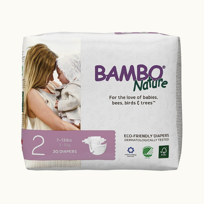 Bambo Nature Baby Diapers 2 Mini (30 pcs.) Diapers and Wipes hippholle.com