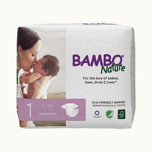 Bambo Nature Diapers - 1 Newborn (28 pcs.) Diapers and Wipes hippholle.com