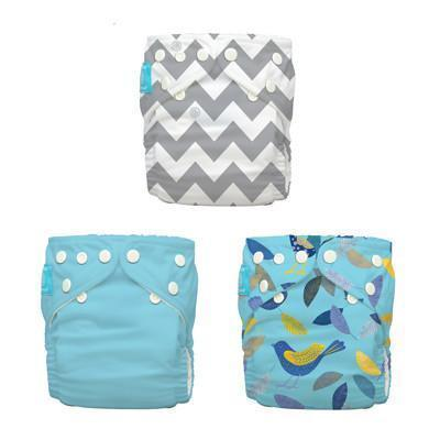 Charlie Banana 3 Diapers 6 Inserts Little Twitter One Size Hybrid AIO Cloth Diapers & Accessories hippholle.com