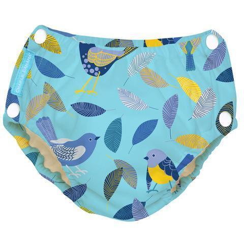 Charlie Banana Reusable Easy Snaps Swim Diaper Twitter Birds Swim Diapers hippholle.com M