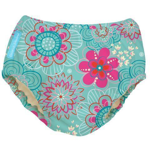 Charlie Banana Reusable Swim Diaper Floriana Medium Swim Diapers hippholle.com S