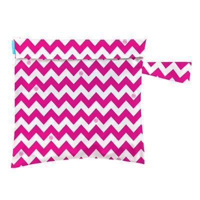 Charlie Banana Tote Bag Hot Pink Chevron Cloth Diapers & Accessories hippholle.com