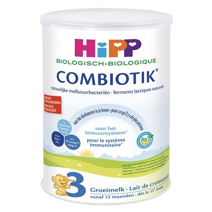 HiPP Organic Combiotic Stage 3- Dutch Version (900g CAN) - no soy 4 Pack Organic Formula hippholle.com