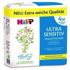 Hipp Ultra Sensitive Wipes (4 PACK) Diapers and Wipes hippholle.com
