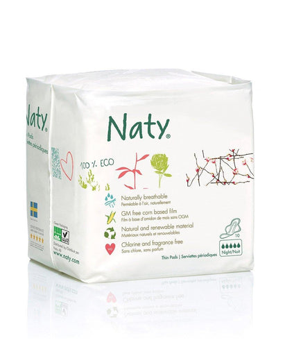 Naty Thin Sanitary Pads- Night Mommy Care hippholle.com