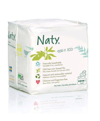 Naty Thin Sanitary Pads- Super Mommy Care hippholle.com