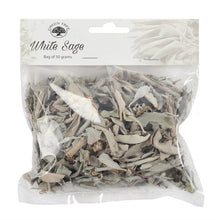 50g bag loose white sage smudging leaves for use in smudge bowl or to make your own sage smudges
