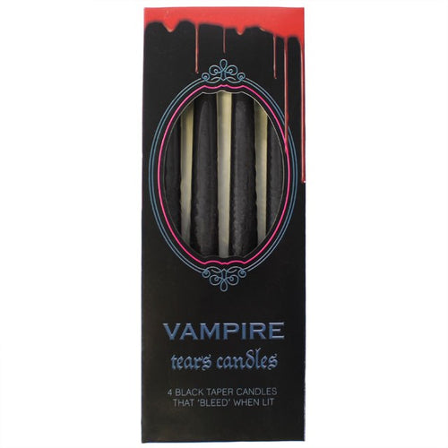 Pack of 4 Bleeding Vampire Tears Black Candles