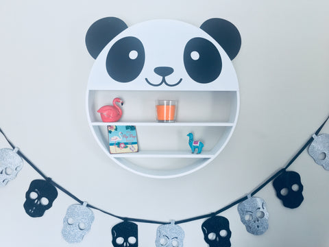 Panda Face Novelty Wall Shelf Unit