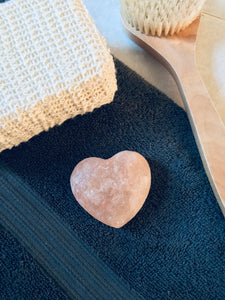 Heart shaped Himalayan Salt soap/natural deodorant bar.