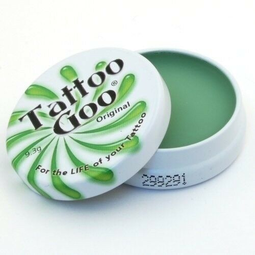The original Tattoo Goo tattoo aftercare healing salve, 21g tin. Use to quickly heal new tattoos.